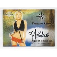 Jessica Rockwell 2013 Benchwarmer Treasure Chest auto black Autograph