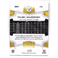 NAJEH DAVENPORT 2008 Score End Zone 3/6 Pittsburgh Steelers