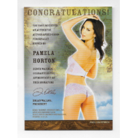 Pamela Horton 2013 Benchwarmer Treasure Chest auto black Autograph