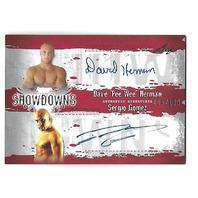 DAVE HERMAN/SERGIO CRUZ 2010 Leaf MMA Metal UFC Showdowns Dual auto /199