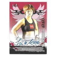 HITOMI AKANO 2010 Leaf MMA Metal UFC Authentic Signature auto #HA-AV1