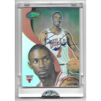 BEN GORDON 2004-05 eTopps Limited Edition RC auto /40 Chicago Bulls
