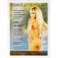 Lisa Gleave 2013 BenchWarmer Treasure Chest auto black Autograph