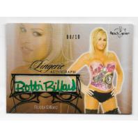 Bobbi Billard 2013 BenchWarmer Lingerie autograph /10 green Autograph