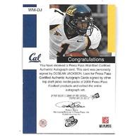 DeSHEAN JACKSON 2008 Press Pass WalMart Exclusive Autograph auto/25 Golden Bears