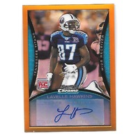LAVELLE HAWKINS 2008 Bowman Chrome Gold Refractor RC auto /15 Tennessee Titans