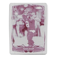 BRIAN HOYER 2014 Topps Chrome Mini Printing Plate Magenta 1/1 Browns Patriots