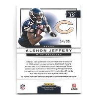 ALSHON JEFFERY 2012 Prestige Prestigious Picks Materials Prime auto /99 Eagles