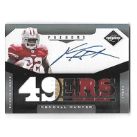 KENDALL HUNTER 2011 Panini Limited Phenoms RC patch auto /299