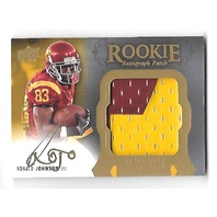 RONALD JOHNSON 2011 UD Exquisite Collection RC Jumbo Jersey patch auto /135 USC