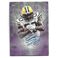 EDDIE LACY 2013 Topps Inception Purple Rookie RC auto /75 Packers Seahawks