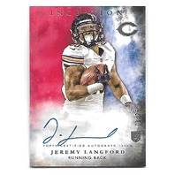 JEREMY LANGFORD 2015 Topps Inception Red Rookie RC on card auto /75 Bears Ravens