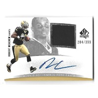 ROBERT MEACHEM 2007 UD SP Authentic Rookie Auto Patch RC /399 New Orleans Saints