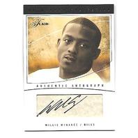 WILLIS McGAHEE 2004 Flair Autograph Collection Gold Parchment auto/25 Bills ACWM