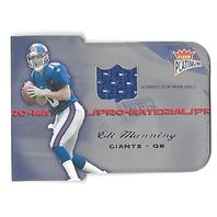 ELI MANNING 2004 Fleer Platinum Pro-Materials Die-cut patch /99 NY Giants RC