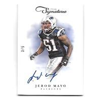 JEROD MAYO 2012 Panini Prime Signatures auto /5 New England Patriots autograph
