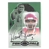 WARREN MOON 2000 Donruss Preferred QBC Pen Pals auto autograph PR 50 KC Chiefs