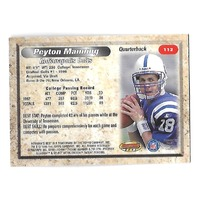 PEYTON MANNING 1998 Bowman's Best Rookie RC #112 Indianapolis Colts