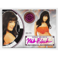 Miki Black 2014 Benchwarmer Vegas Baby Pink /21 poker chip auto autograph