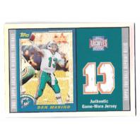 DAN MARINO 2001 Topps Archives Reserve Refractor Game Worn Jersey patch #40