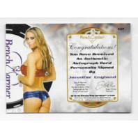 Jennifer England 2014 Benchwarmer Vegas Baby /21 poker chip pink autograph auto