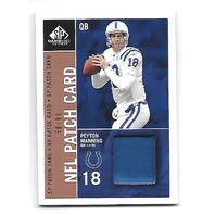 PEYTON MANNING 2003 Upper Deck SP Game Used Edition NFL patch card /99 Colts