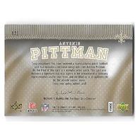ANTONIO PITTMAN 2007 Upper Deck SP Rookie Threads Letterman Black patch auto /25