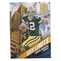 AARON RODGERS 2013 Panini Spectra City Limits Gold 10/10 Green Bay Packers