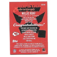 WILLIE ROAF 2003 Topps Pristine All-Star Endorsements jersey auto #ASEWR