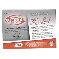 GENO SMITH 2013 SAGE Hit The Write Stuff auto /25 New York Jets
