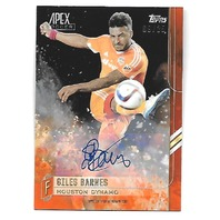 GILES BARNES 2015 Topps Apex MLS Autograph Orange auto /25 Houston Dynamo