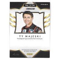 TY MAJESKI NASCAR 2017 Panini Select Signatures Red auto /99 on card