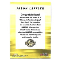 JASON LEFT TURN LEFFLER NASCAR 2003 Wheels Authentic Autograph On Card Auto #33