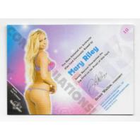 Mary Riley 2013 Benchwarmer Kiss Card #10