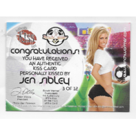 Jen Sibley 2006 Benchwarmer Authentic Kiss Card /12 pink lipstick