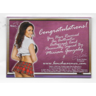 Stevie Lynn Leow 2011 Benchwarmer School Girls auto #12 plad skirt