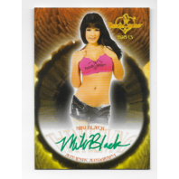Miki Black 2013 Benchwarmer Thanksgiving auto #62 jean shorts