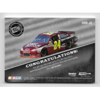 Jeff Gordon NASCAR 2013 Press Pass Authentics Hot Rod Relics /50 Tire sheet metal