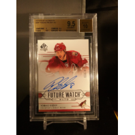 Tobias Rieder 2014-15 SP Authentic Future Watch Autograph /999 SPA BGS 9.5 POP=1