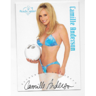 Camille Anderson 2002 Benchwarmer Authentic auto volleyball Autograph