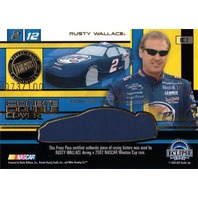 RUSTY WALLACE & RYAN NEWMAN 2004 Eclipse Race Used Double Car Cover 73/100 Card