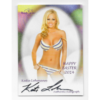Katie Lohmann 2014 Benchwarmer Happy Easter auto Autograph