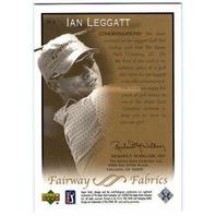 IAN LEGGATT 2003 Upper Deck Fairway Fabrics Used Worn Golf Tournament Shirt Card