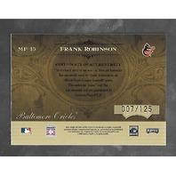 FRANK ROBINSON 2005 Playoff Absolute Memorabilia Marks Fame auto bat piece /125
