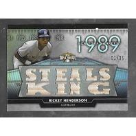 RICKEY HENDERSON 2012 Topps Triple Threads Steals King Bat piece 1/36 Yankees