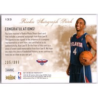 ACIE LAW IV 2007-08 Fleer NBA Hot Prospects Autograph Patch Rookie Card /399 RC