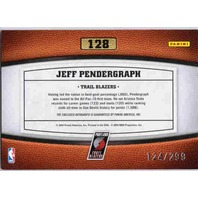 JEFF PENDERGRAPH 2009-10 09/10 Timeless Treasures Auto Rookie Card 124/299