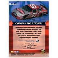 KURT BUSCH 2004 Press Pass Hot Treads Race Tire Card 125/1250