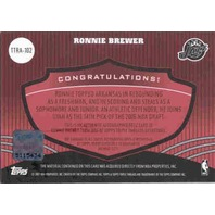 RONNIE BREWER 2006-07 Topps Triple Threads Rookie Auto Jersey Card 28/36