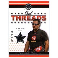 JUAN PABLO MONTOYA 2007 Wheels Cool Threads Race-Used Shirt Card 51/299 BV$15 (x)